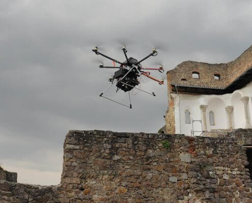 Octocopter in action