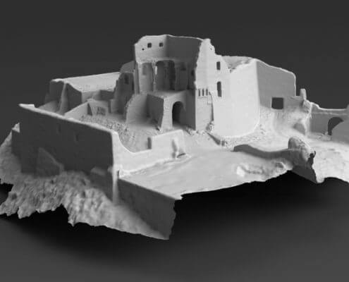 Burgruine 3D-Mesh