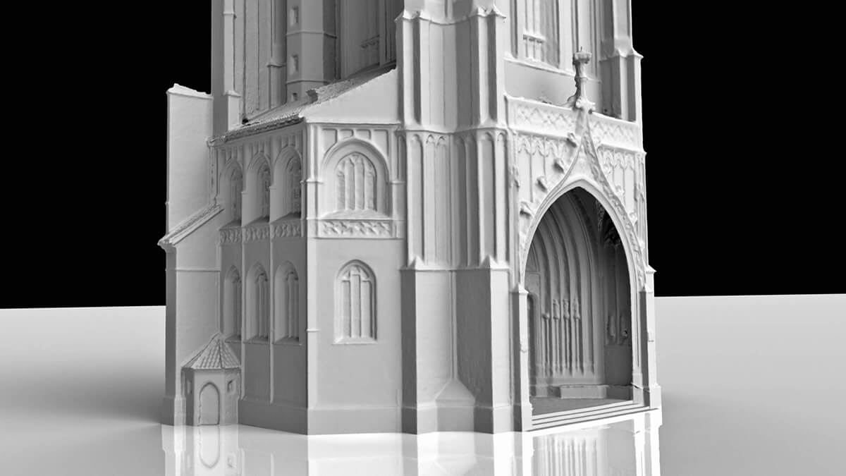 Kirchturm St. Martin 3D-Mesh des Westportals